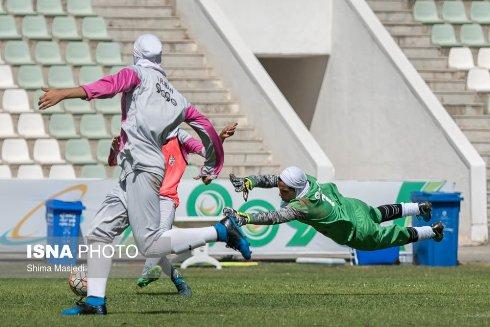 تمرینات بازیکنان تیم ملی فوتبال دختران ایران