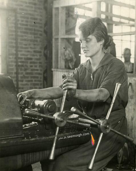 لباس سرهمی که توسط زنان کارگر استفاده می شد