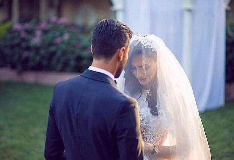 کاوه رضایی و  فرنوش شیخی در مراسم ازدواج شان