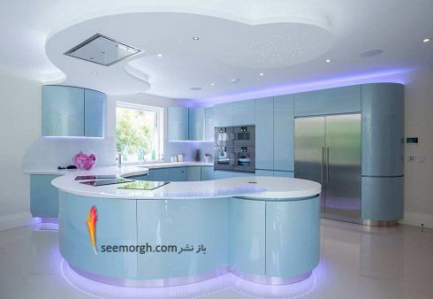 مدل کابینت,دکوراسیون داخلی,دکوراسیون داخلی آشپزخانه,آشپزخانه مدرن,نورپردازی در آشپزخانه