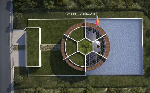 مسی,لیونل مسی,خانه مسی,دکوراسیون خانه مسی به شکل توپ فوتبال,خانه رویایی و مجلل لیونل مسی Lionel Messi در بارسلونا به شکل توپ فوتبال