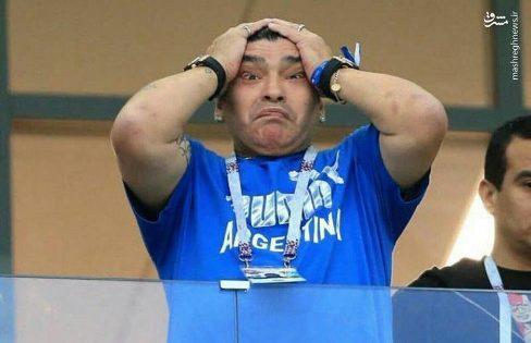واکنش مارادونا به گل دي ماريا