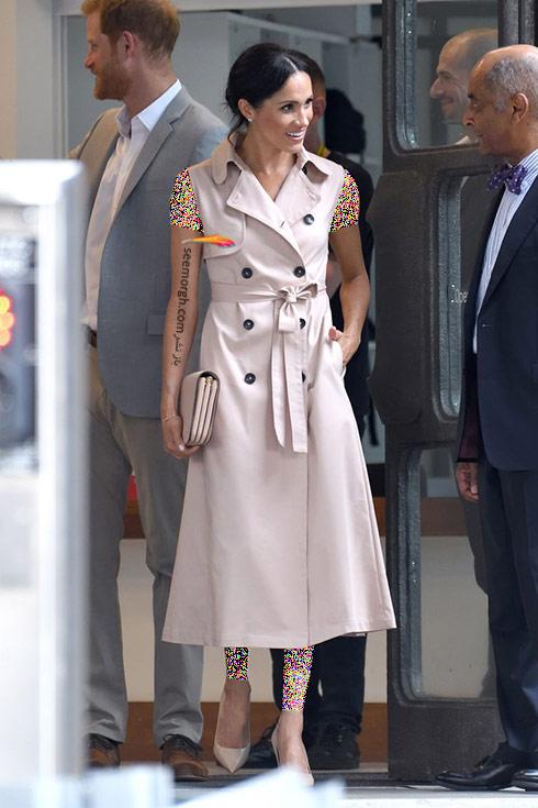 مدل لباس,هفته مد,مدل لباس در هفته مد لندن,مگان مارکل,مدل لباس مگان مارکل,مدل لباس مگان مارکل Meghan Markle در هفته مدل لندن، 20 جولای