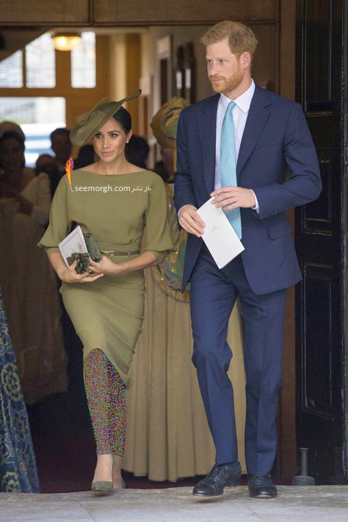 مدل لباس مگان مارکل,مگان مارکل,مدل لباس مگان مارکل در مراسم غسل تعمید پرنس لوئی,مدل لباس مگان مارکل Meghan Markle در مراسم غسل تعمید پرنس لوئی