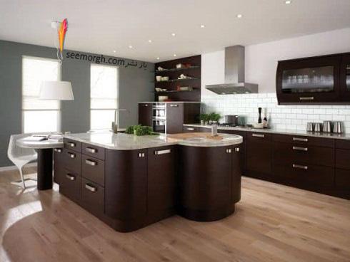 مدل کابینت,دکوراسیون داخلی,دکوراسیون داخلی آشپزخانه,آشپزخانه مدرن,کابینت قهوه ایی