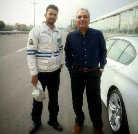 عکس مهران مديري در کنار اتومبيلش