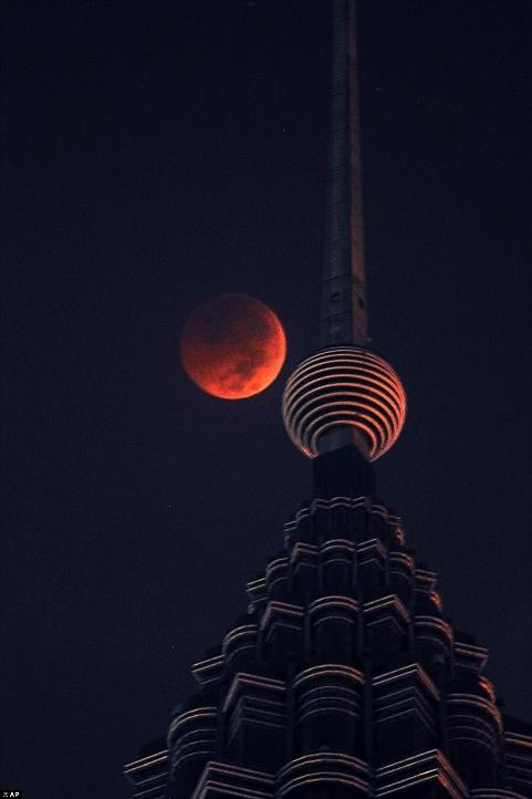 ماه گرفتگی در کوآلالامپور