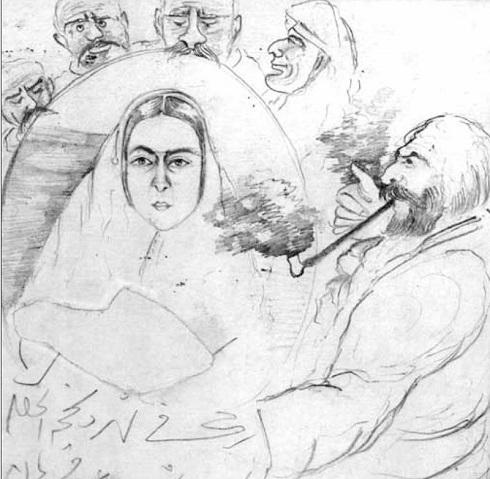 نقاشی ناصرالدین شاه، اثر ناصرالدین شاه