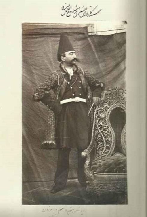سلفی ناصرالدین شاه، تصویر ناصرالدین شاه در جوانی