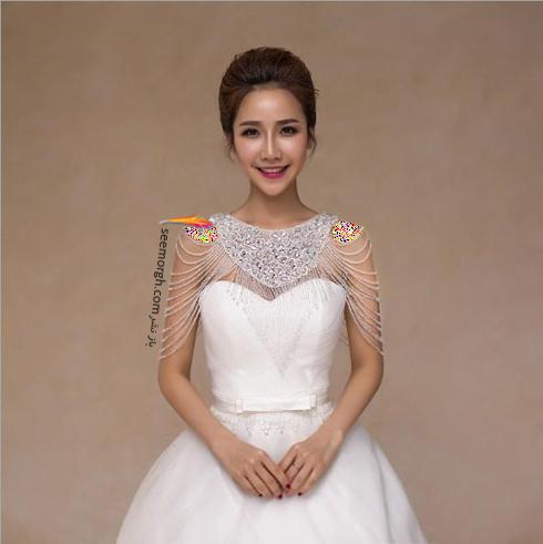 مدل گردنبند برای ست کردن با لباس عروس دکلته,لباس عروس,گردنبند عروس,لباس عروس دکلته,ست کردن لباس عروس دکلته با گردنبند