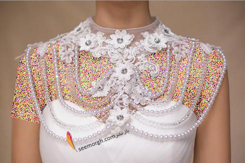 گردنبند برای ست کردن با لباس عروس دکلته,لباس عروس,گردنبند عروس,لباس عروس دکلته,ست کردن لباس عروس دکلته با گردنبند