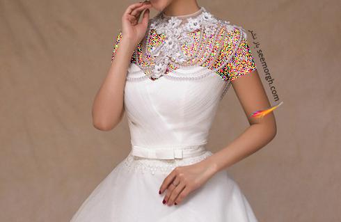 لباس عروس,گردنبند عروس,لباس عروس دکلته,ست کردن لباس عروس دکلته با گردنبند,گردنبند برای ست کردن با لباس عروس دکلته
