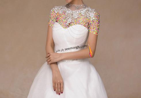 زیباترین مدل گردنبند برای ست کردن با لباس عروس دکلته,لباس عروس,گردنبند عروس,لباس عروس دکلته,ست کردن لباس عروس دکلته با گردنبند