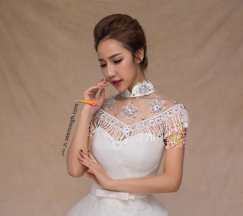 بهترین مدل گردنبند برای ست کردن با لباس عروس دکلته,لباس عروس,گردنبند عروس,لباس عروس دکلته,ست کردن لباس عروس دکلته با گردنبند