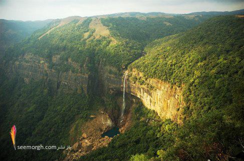 آبشار Nohkalikai، Cherrapunji