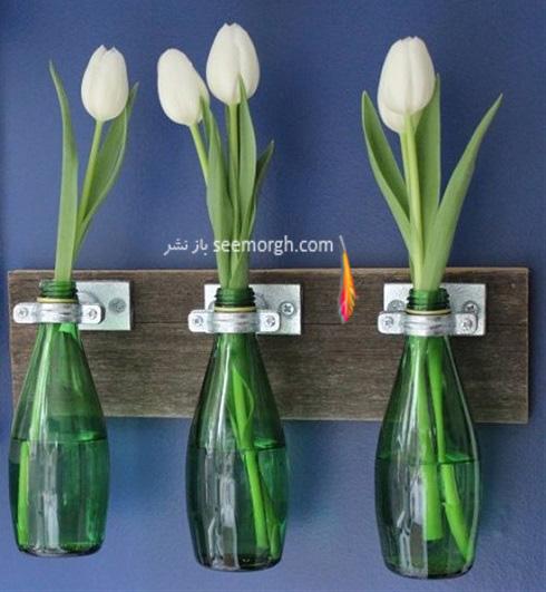 ساخت گلدان,درست کردن گلدان,آموزش ساخت گلدان,آموزش ساخت گلدان با وسایل دور ریختنی,ساخت گلدان با بطری شیشه ای