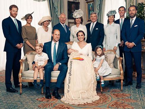 مراسم غسل تعمید,مراسم غسل تعمید پرنس لویی,عکس ها مراسم غسل تعمید پرنس لویی,عکس خانوادگی در مراسم غسل تعمید پرنس لویی Louis