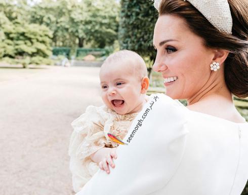 مراسم غسل تعمید,مراسم غسل تعمید پرنس لویی,عکس ها مراسم غسل تعمید پرنس لویی,عکس کیت میدلتون Kate Middleton و پرنس لویی Louis در مراسم غسل تعمید