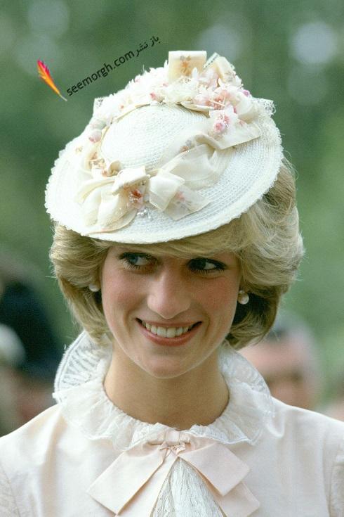مدل کلاه,پرنسس دایانا,کلاه سفید کلاسیک زنانه