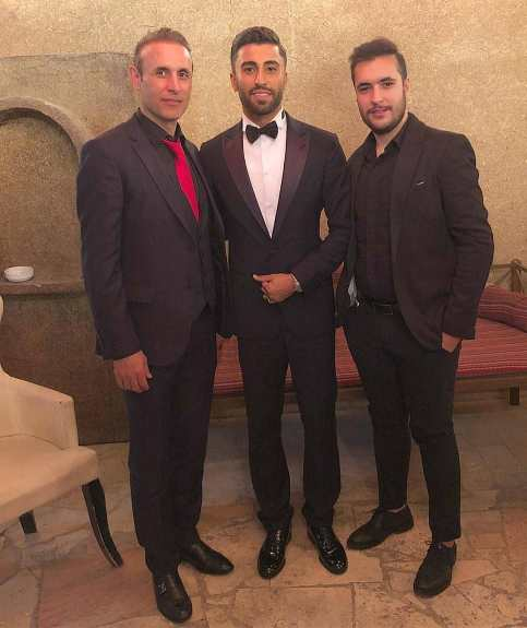 یحیی گل محمدی و پسرش در جشن عروسی کاوه رضایی