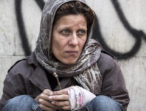 سارا بهرامی,سارا بهرامی در نقش معتاد,سارا بهرامی در فیلم دارکوب,فیلم دارکوب,بهروز شعیبی