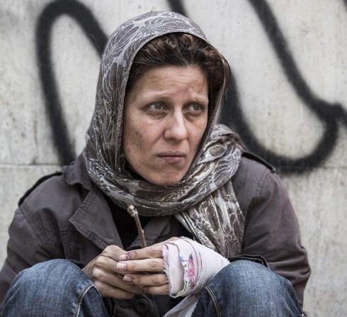سارا بهرامی در دارکوب,زنان معتاد سینمای ایران,سارا بهرامی,فیلم دارکوب,دارکوب