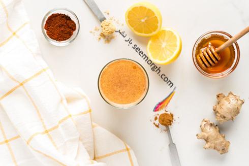 نوشیدنی برای سم زدایی بدن,عسل,دارچین,زنجبیل