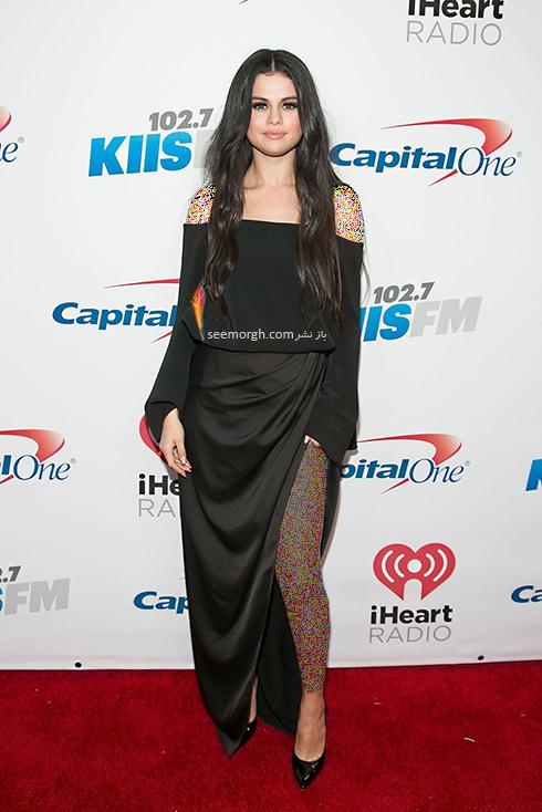 مدل لباس,مدل لباس سلنا گومز,سلنا گومز,مدل لباس به سبک سلنا گومز Selena Gomez - پیراهن ماکسی مشکی