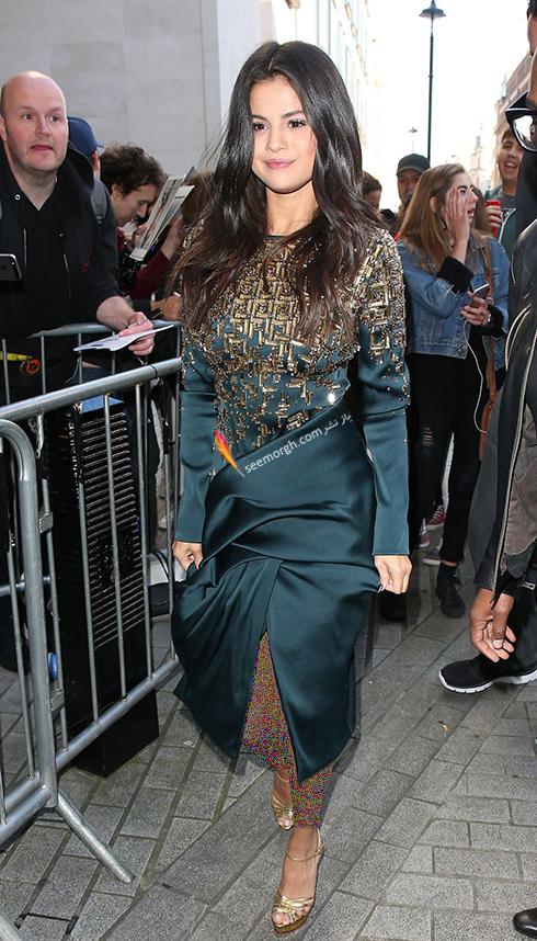 مدل لباس,مدل لباس سلنا گومز,سلنا گومز,مدل لباس به سبک سلنا گومز Selena Gomez - پیراهن کوتاه مجلسی