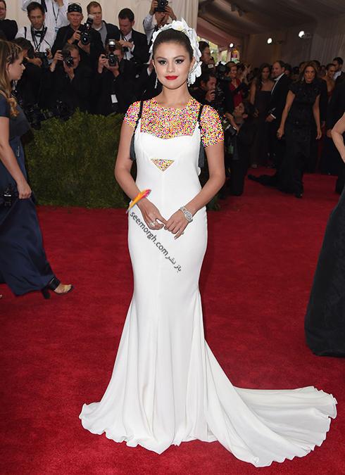 مدل لباس,مدل لباس سلنا گومز,سلنا گومز,مدل لباس به سبک سلنا گومز Selena Gomez - پیراهن ماکسی سفید