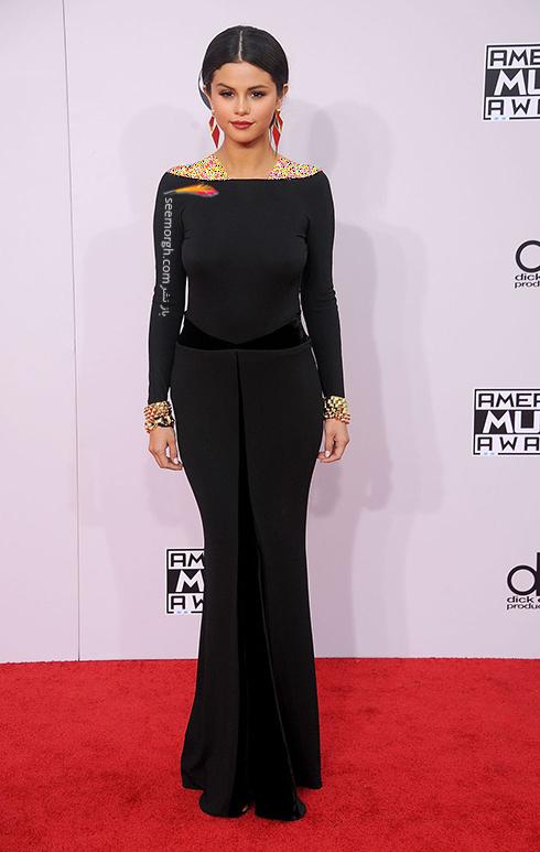 مدل لباس,مدل لباس سلنا گومز,سلنا گومز,مدل لباس به سبک سلنا گومز Selena Gomez - پیراهن مجلسی مشکی