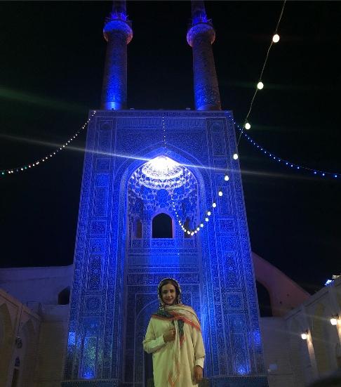 عکس شبنم قلی خانی در یزد