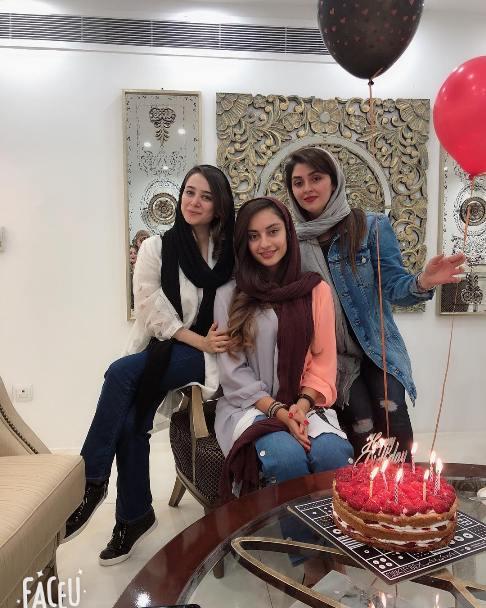 جشن تولد ترلان پروانه در کنار الناز حبيبي و شيرين مقدم
