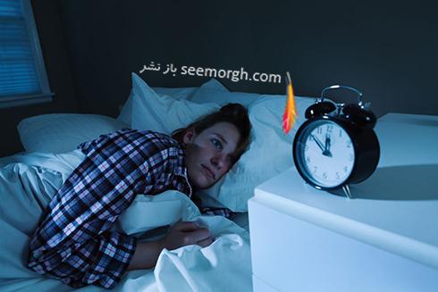 بی خوابی,کم خوابی,زنی که نمی تواند بخوابد