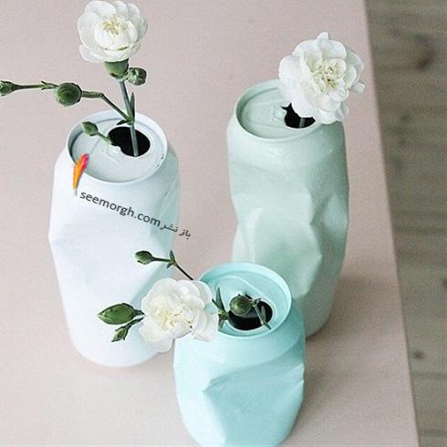 ساخت گلدان,درست کردن گلدان,آموزش ساخت گلدان,آموزش ساخت گلدان با وسایل دور ریختنی,ساخت گلدان با قوطی