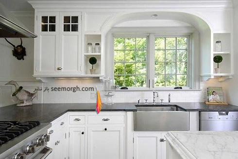 دکوراسیون آشپزخانه,جدیدترین دکوراسیون آشپزخانه,کابینت آشپزخانه,کابینت سیاه سفید,مدل کابینت آشپزخانه,آشپزخانه کوچک,آشپزخانه شیک