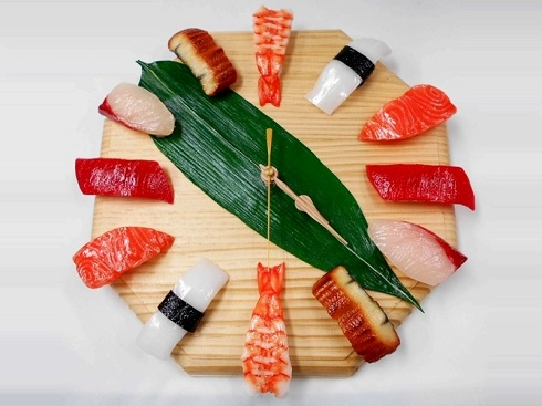ساعت شام،ساعت دیواری،سوشی،غذای دریایی