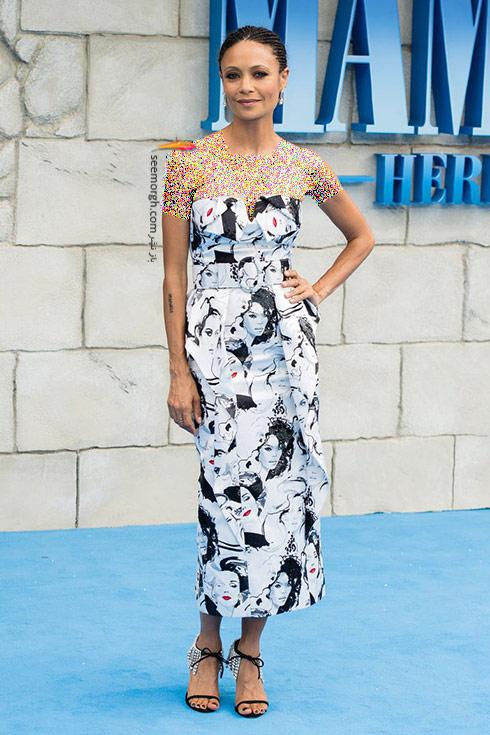 مدل لباس,بهترین مدل لباس,هفته مد لندن,مدل لباس تندی نیوتون Thandie Newton در هفته مدل لندن، 20 جولای
