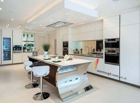 مدل کابینت,دکوراسیون داخلی,دکوراسیون داخلی آشپزخانه,آشپزخانه مدرن,مدل آشپزخانه جزیره
