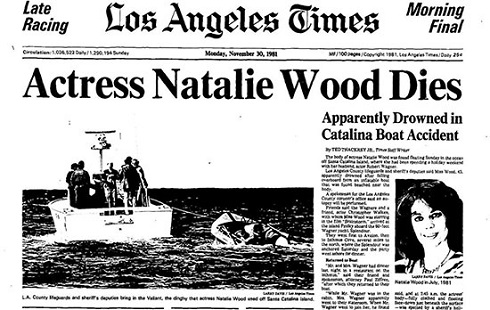 ناتالی وود,مرگ مشکوک ناتالی وود,هنرپیشه سینما,بازیگر هالیوود