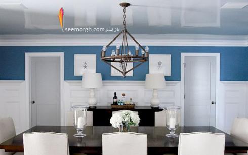 بزرگتر نشان دادن سقف,چگونه سقف را بزرگتر نشان دهیم,برای بلند نشان دادن سقف از رنگ های بسیار براق و روشن high gloss استفاده کنید