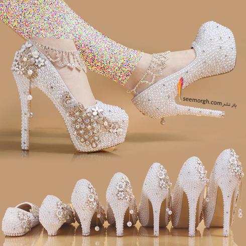 کفش عروس پاشنه بلند یا کوتاه,,کفش عروس,ست کردن کفش عروس با لباس عروس,انتخاب کفش عروس