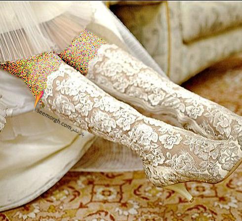 اگر مدل لباس عروس تان جلو کوتاه و پشت بلند است,,کفش عروس,ست کردن کفش عروس با لباس عروس,انتخاب کفش عروس