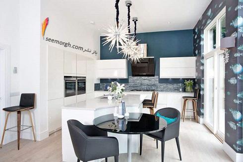 مدل کابینت,دکوراسیون داخلی,دکوراسیون داخلی آشپزخانه,آشپزخانه مدرن,کابینت سفید های گلاس