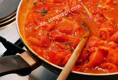 گوجه فرنگی,گوجه فرنگی پخته,پختن گوجه فرنگی