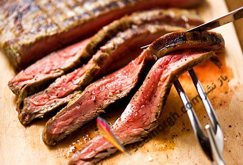 گوشت قرمز,استیک,گوشت بدون چربی