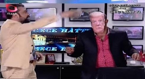 ترامپ در برنامه زنده تلویزیون ترکیه شادباش گرفت!