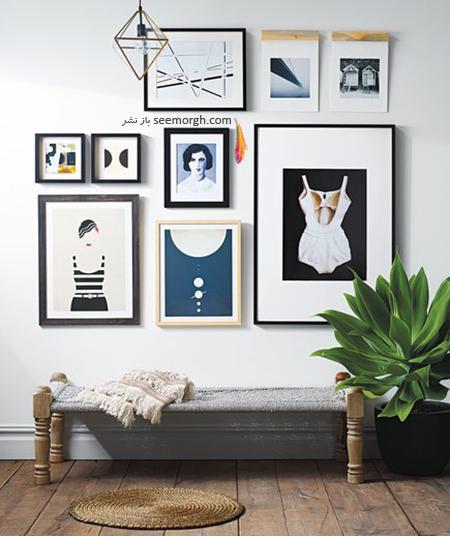 آویزان کردن تابلو در بالاترین نقطه,دکوراسیون داخلی,اشتباهات در دکورایون داخلی