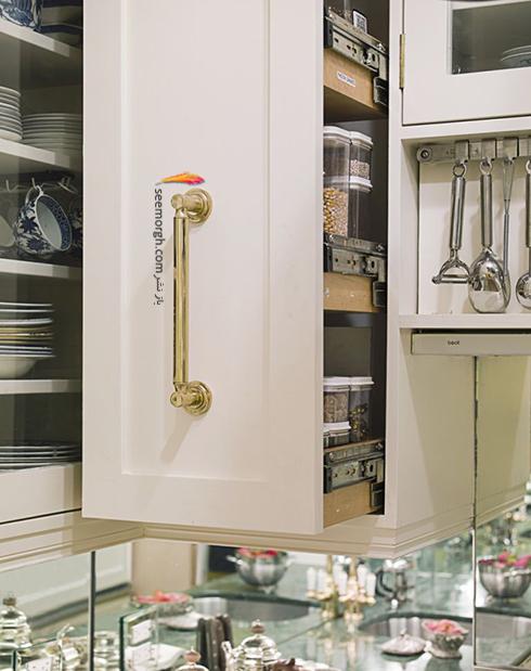 کابینت های هوشمند، بهترین ایده برای دکوراسیون آشپزخانه های کوچک,دکوراسیون آشپزخانه,دکوراسیون آشپزخانه کوچک,چیدن دکوراسیون آشپزخانه های کوچک