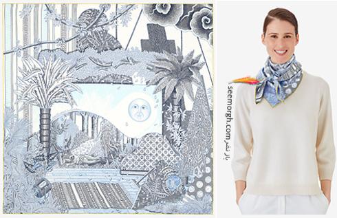 روسری,هرمس,روسری هرمس,مدل روسری,جدیدترین مدل روسری,جدیدترین مدل روسری هرمس,جدیدترین مدل روسری هرمس,کلکسیون روسری هرمس Hermes برای تابستان 2018